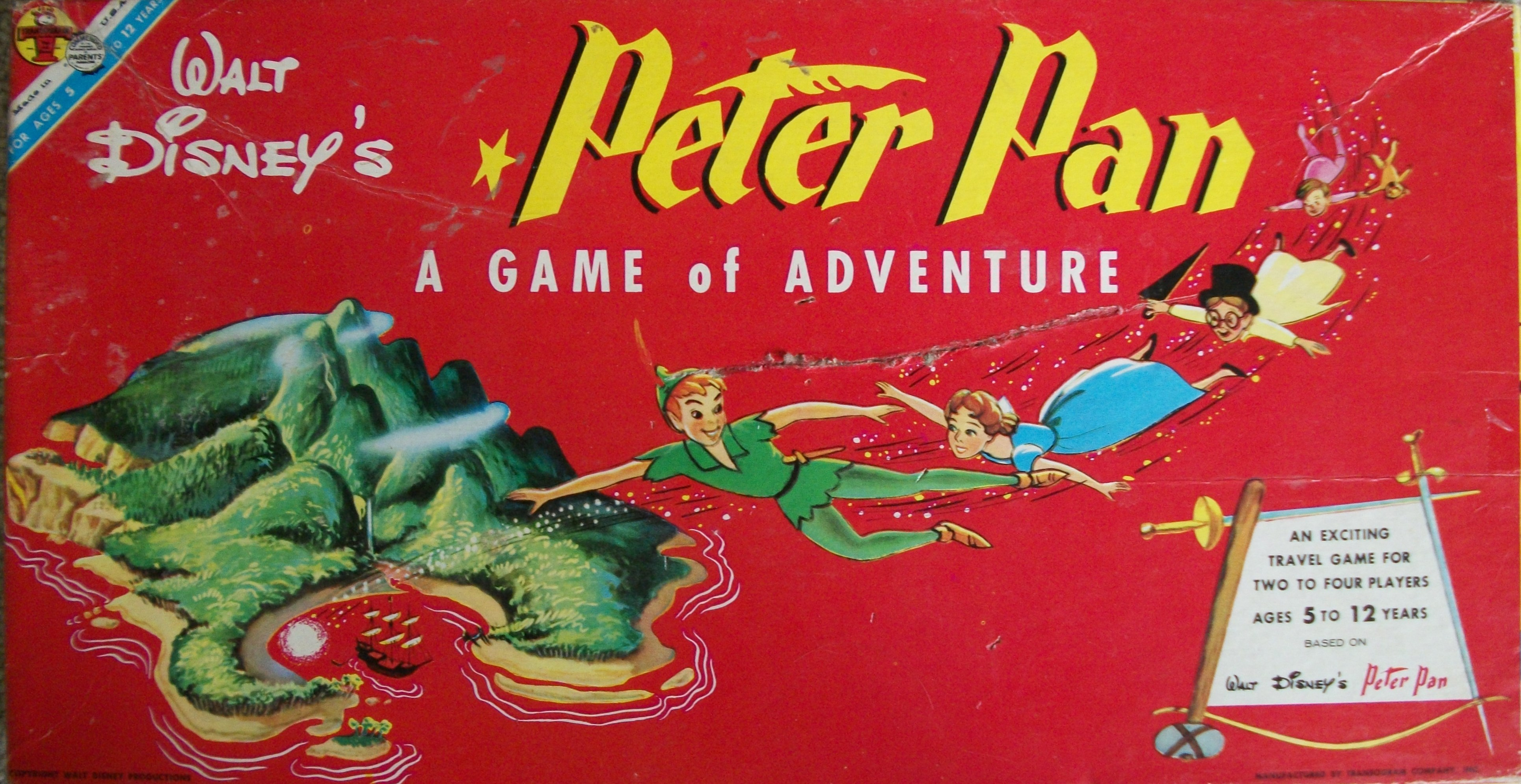 1953 vintage board game of Peter Pan