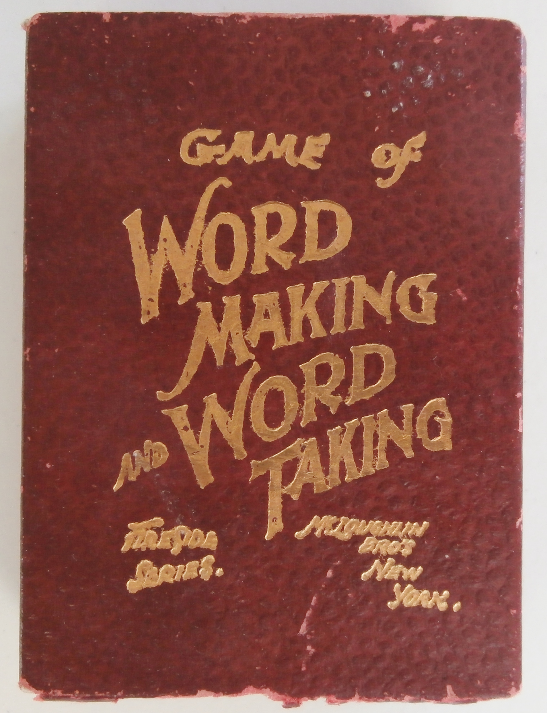 1900s mcloughlin game of word making and word taking all about long before scrabble was first published in 1948 players battled to create words for the most points in card games like logomachy and in the following publicscrutiny Choice Image