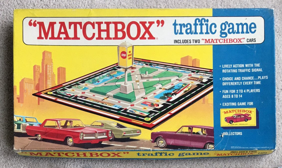 Vintage Board Matchbox Traffic
