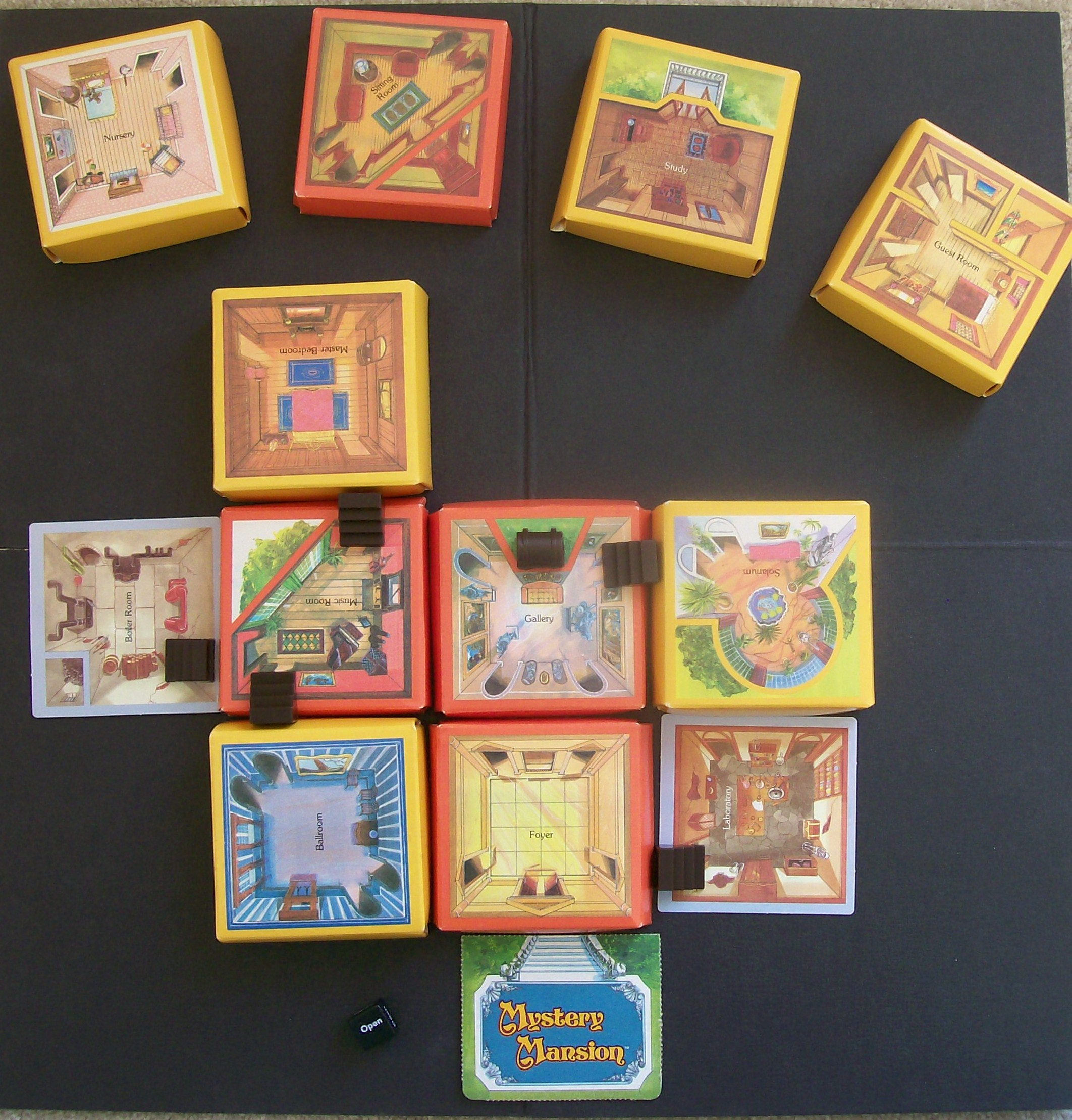 View Mystery Mansion Board Game 1984 Wallpapers