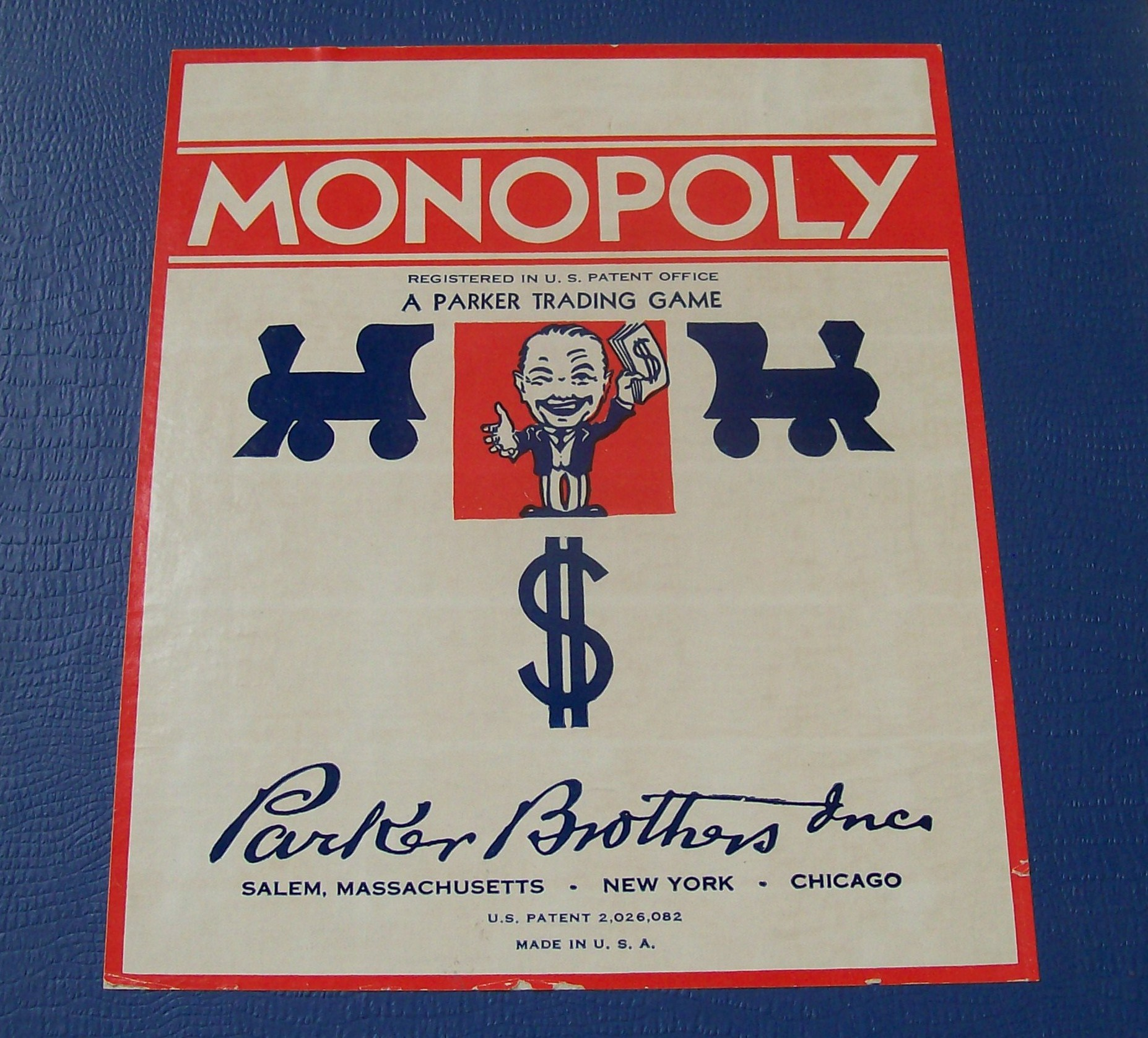 Vintage 5 pc set tokens from 1961 Monopoly Game Player Pieces Parker Brothers